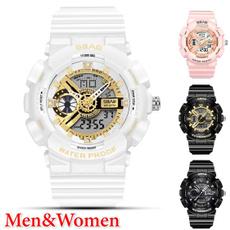 Fashion, led, Waterproof Watch, gold