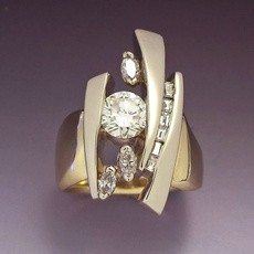 DIAMOND, Women Ring, gold, 18k gold ring