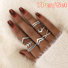 Fashion, leaf, hollowring, Silver Ring