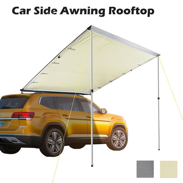 Outdoor Sunshade Canopy Car Tent Awning Rooftop SUV Truck Camping Travel Shelter