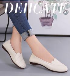 casual shoes, fashion women, genuine leather, flat shoe