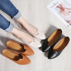 casual shoes, fashion women, Korea Style, genuine leather