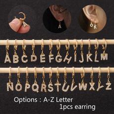 Hoop Earring, punk earring, gold, cartilage earrings