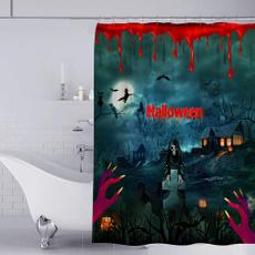 Decorative, Blood, Curtains, hand