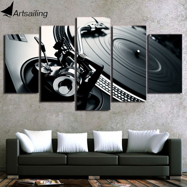 DJ SKELETON QUALITY MODERN CANVAS PICTURE WALL ART MODERN READY TO HANG
