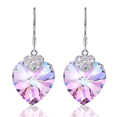 Sterling, Heart, Fashion, Crystal Jewelry