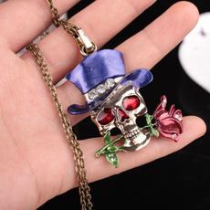 Steel, skullnecklace, Fashion, Jewelry