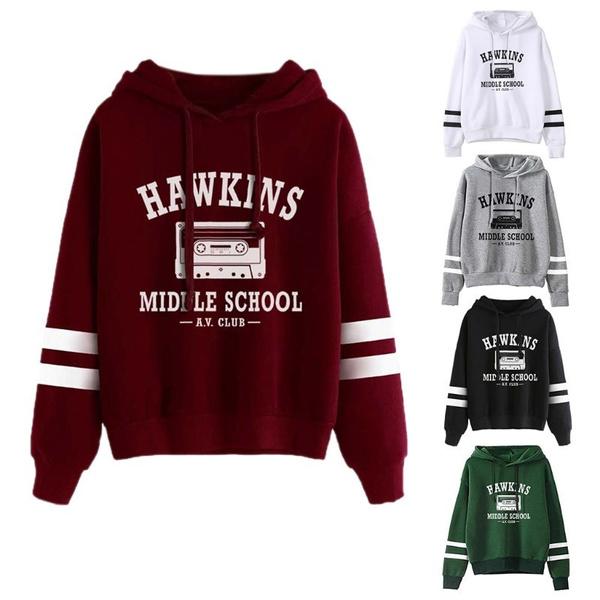 School, Casual Hoodie, stripedhoodie, pullover hoodie