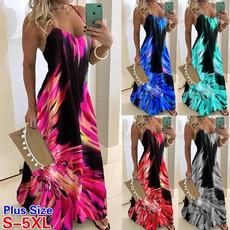 Fashion, Colorful, long dress, Beach