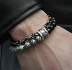 Charm Bracelet, Steel, hip hop jewelry, Stainless Steel