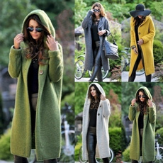 Chaqueta, cardigan, hooded, Invierno