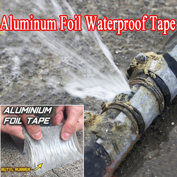 New Special Waterproof Tape Aluminum Foil Butyl Rubber Tape Super Adhesive  Tape Repair Leakage Supply Band Strong for Roof Pipe Marine Repair 3 Size    Wish