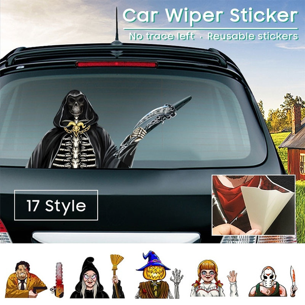 vylymuses Waving Wiper Decal for Rear Window 3D Cartoon Car Sticker dog Reusable Waterproof Vinyl Decal for Vehicle Rear Wipers Decoration