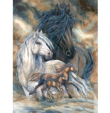 DIAMOND, art, Embroidery, horse