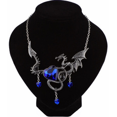 firebreathingdragonnecklace, Goth, Fashion, gemstonenecklace