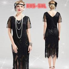 sequin dress, Christmas, tasselsdre, Lace