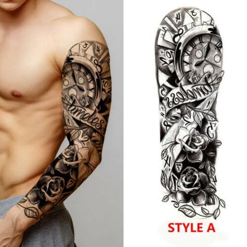 Men Women Full Arm Sleeve Temporary Tattoo Stencil Sticker Body Art 3d Waterproof Wish