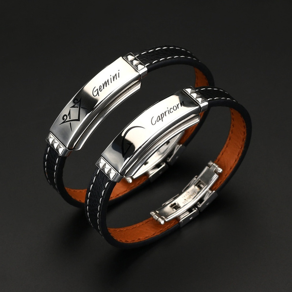 Charm Bracelet, Titanium Steel Bracelet, Stainless Steel, 12constellationsbracelet