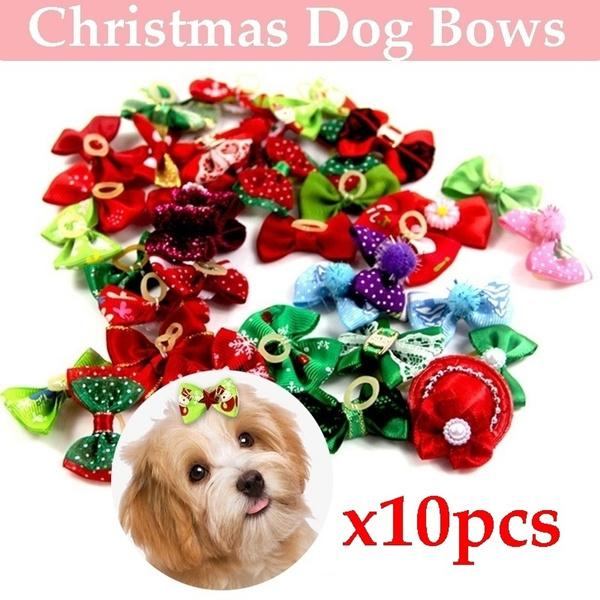doghairbow, cute, christmaspuppyhairbow, Christmas
