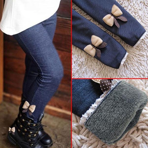 Leggings, trousers, girlswarmpant, Winter