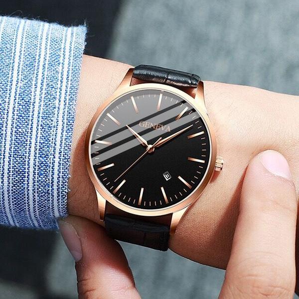 quartz, business watch, fashion watches, leather
