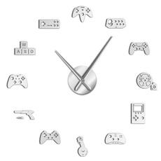 Decor, art, Clock, Stickers