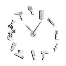 framelessclockwatch, barberwallclock, Clock, Watch