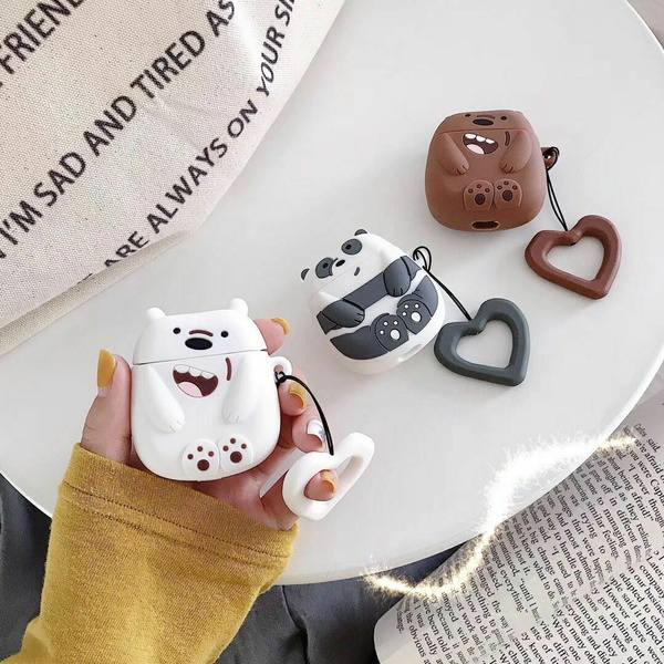 Cute We Bare Bears Earphone Cover For Apple Airpods Charging Case Holder Bag Wish