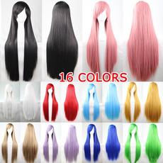 wig, Black wig, straightwig, Cosplay