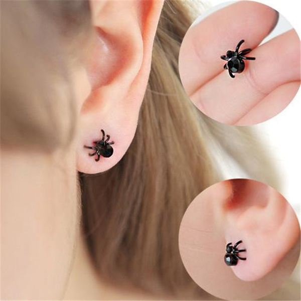 Funny, Fashion, Jewelry, spiderearring