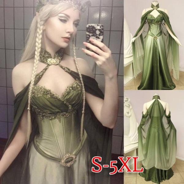 sleeveless, Plus Size, Medieval, chiffon