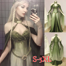 sleeveless, Plus Size, Medieval, chiffon