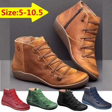 Plus Size, flatsboot, Waterproof, Ladies