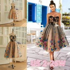 butterfly, balldre, Strapless Dress, Lace