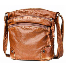 Shoulder Bags, Zip, Bags, leather
