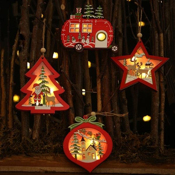 woodenlight, Decor, Holiday, led