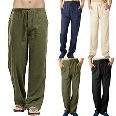 Summer, trousers, Waist, Elastic