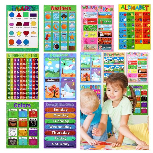 Infants & Toddlers, Farm, alphabet, kidseducationalposter