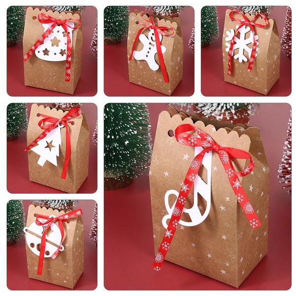 kraft, Christmas, Gifts, Gift Bags