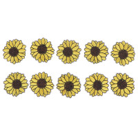 LIN/&Dog Sunflower Embroidery Patches 12 Pcs Iron and Sew On Applique Badge for Clothes Jeans Jacket Hat Dress DIY Accessories(Sewing-Free)