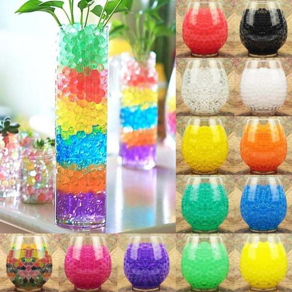 500pcs Water Plant Flower Jelly Crystal Soil Mud Water Pearls Gel Beads Balls//*