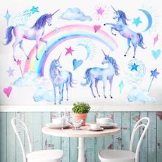 Heart, art, Home Decor, rainbowunicorn