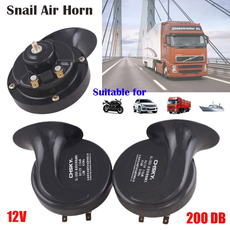 UTSAUTO 12V Train Horns for Trucks Electric Snail Horn for Any 12V Vehicles Trucks Lorrys Trains Boats Cars Motorcycle