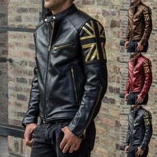 Plus Size, punk, zipperjacket, men leather jackets