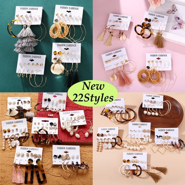 Fashion, Pearl Earrings, Stud Earring, Simple