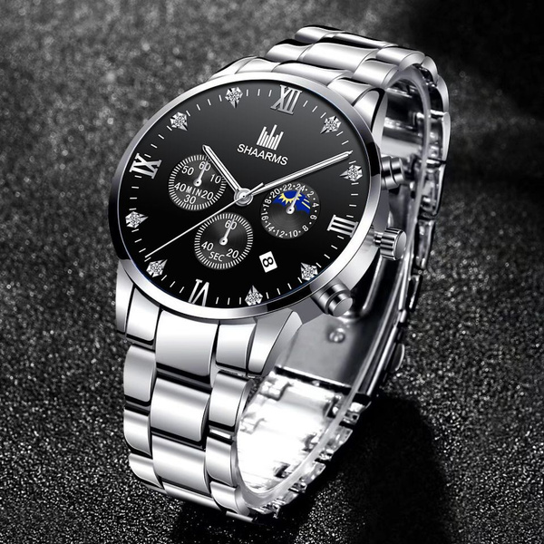 Chronograph, DIAMOND, Waterproof Watch, business watch