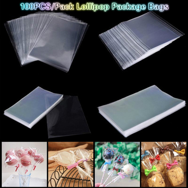 Transparent Opp Plastic Candy Bag Sweets Pocket Cookie Packaging Lollipop Pouch