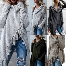 Coat, sweaters for women, pullover sweater, tasselcardigan