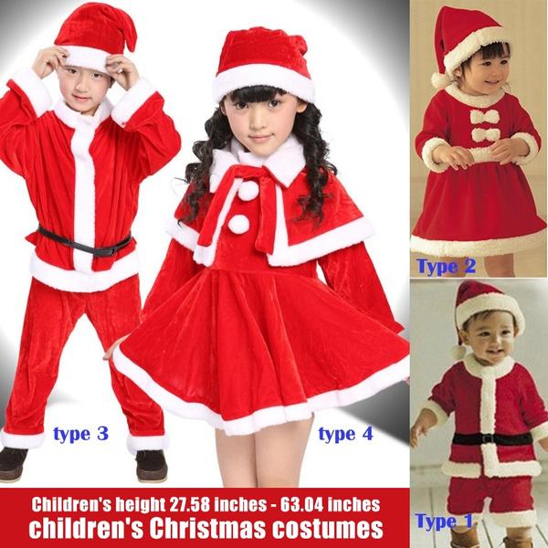kidchristmasclothe, performancecostume, boysandgirlssuit, Santa Claus