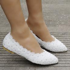 Flats & Oxfords, Flowers, Lace, Woman Shoes